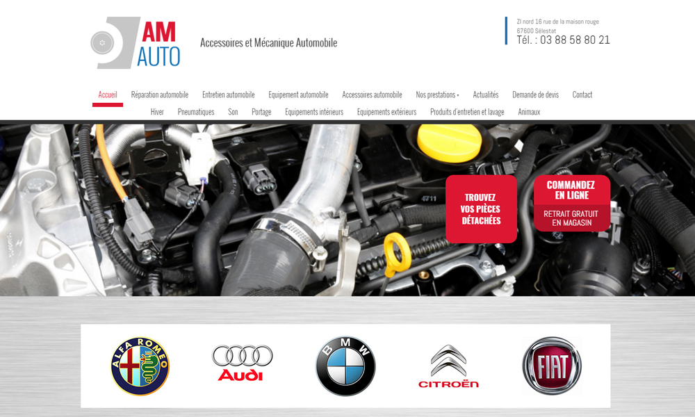 Site web du Garage Amauto