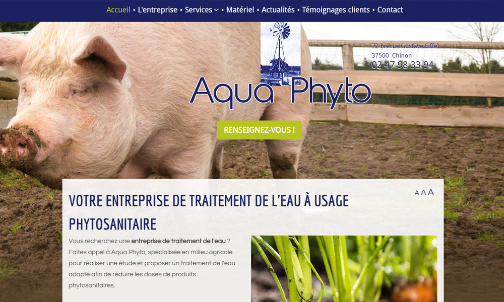 Site web du Aquaphyto