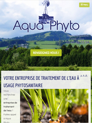 Aquaphyto - Vue Tablette