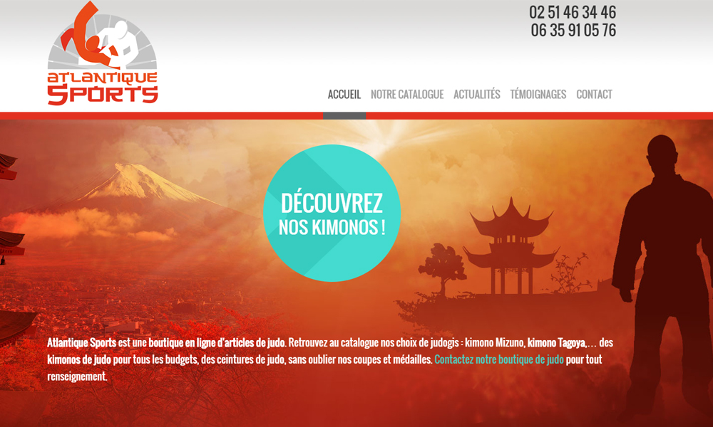 Site web du Atlantique Sports