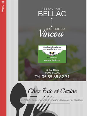 Restaurant Bellac - Vue Tablette