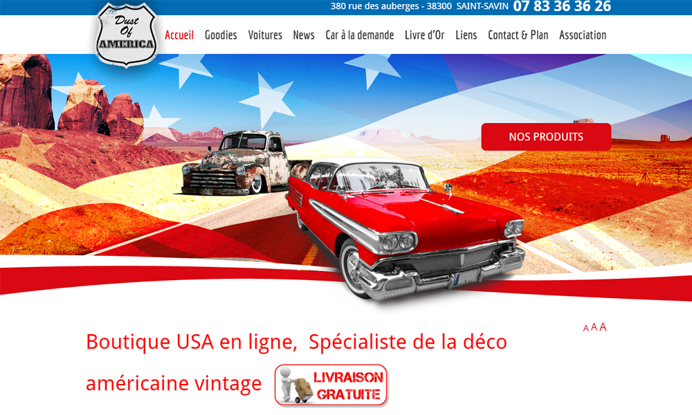 Site web du Dust of America