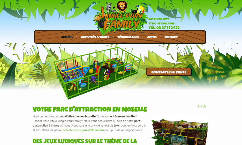 Site web du Jungle Park Family