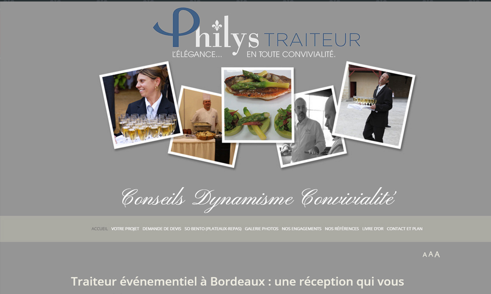 Site web du Traiteur Philys
