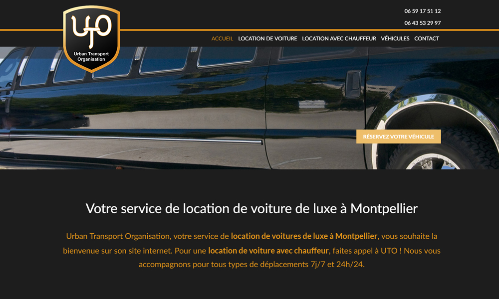 Site web du Uto Location
