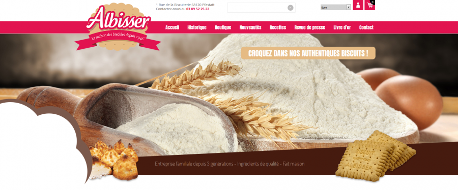 Site web du Albisser Biscuits