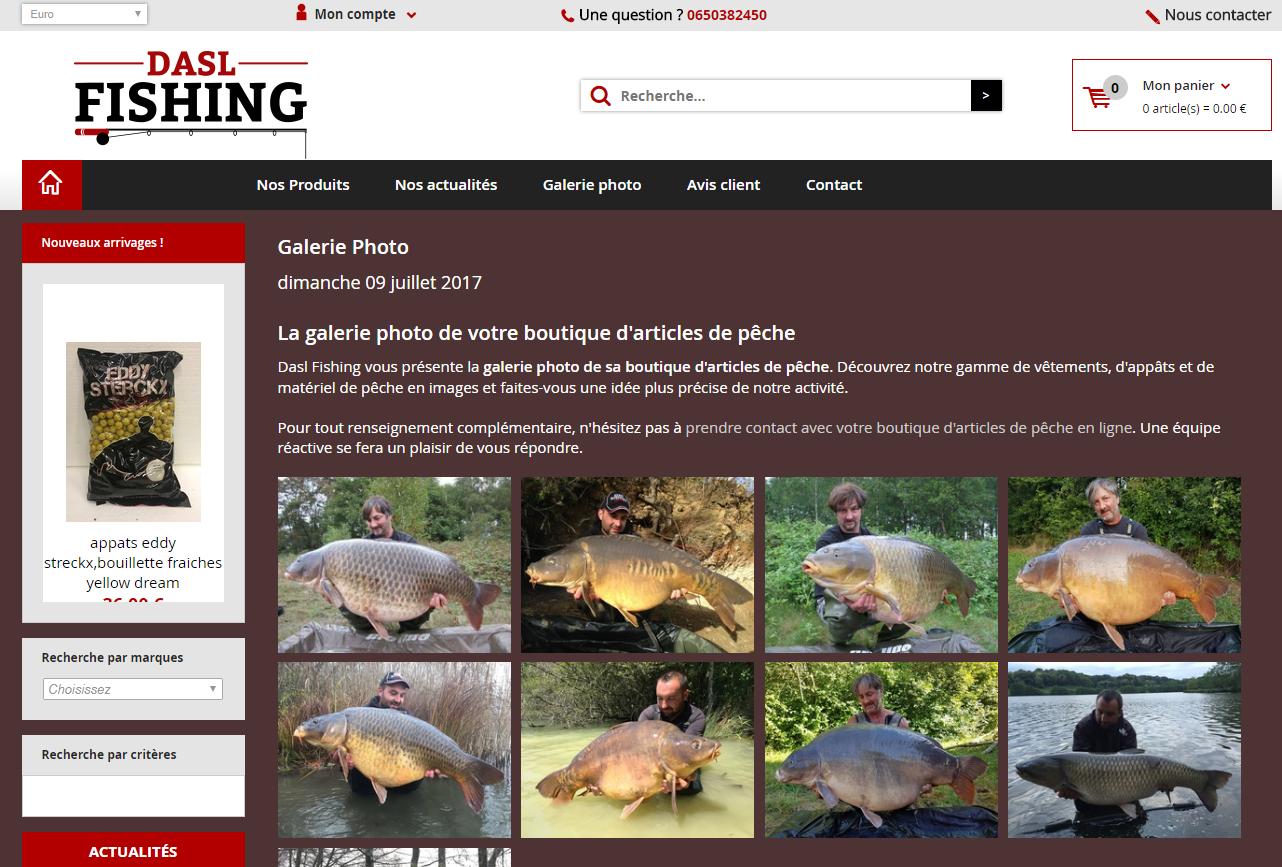 Site web du Dasl Fishing