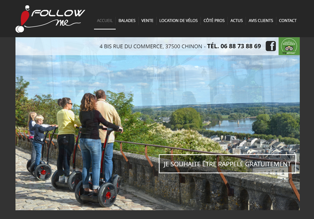 Site web du E-FOLLOW ME
