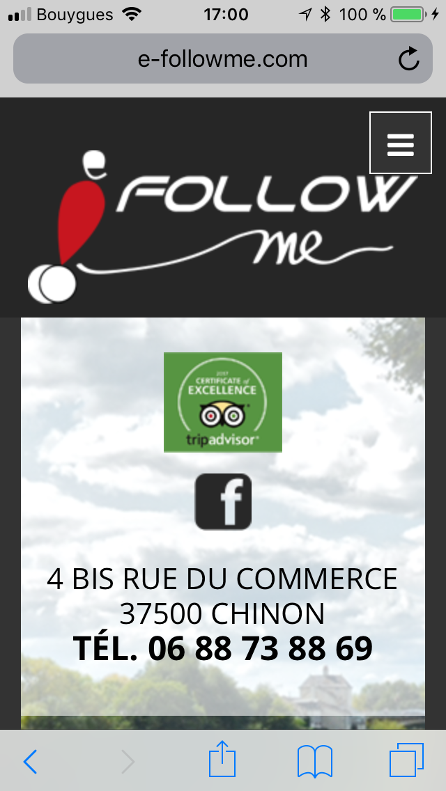 E-FOLLOW ME - Vue Mobile