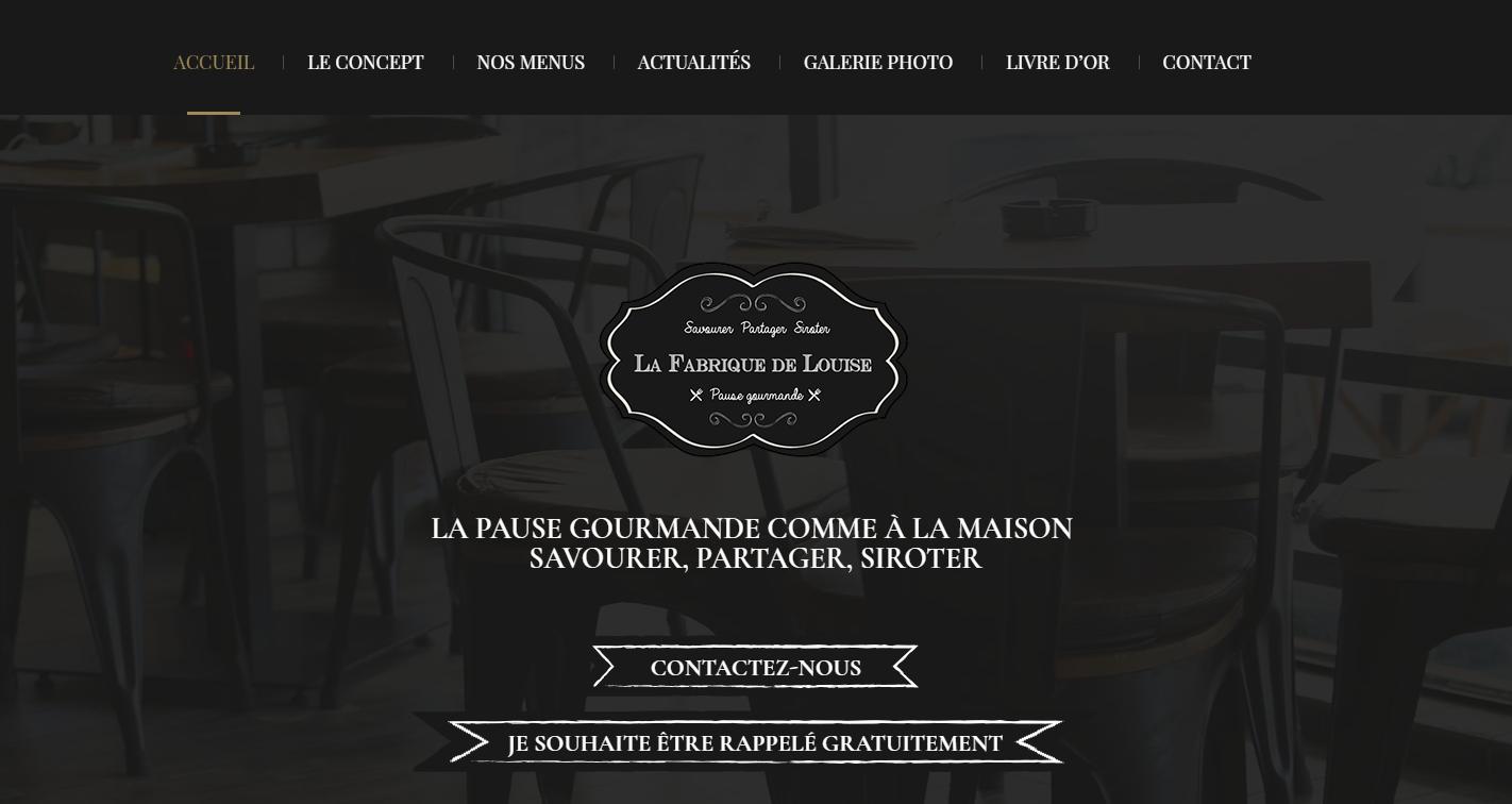 Site web du La Fabrique de Louise