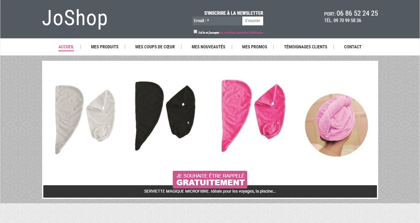 Site web du JoShop