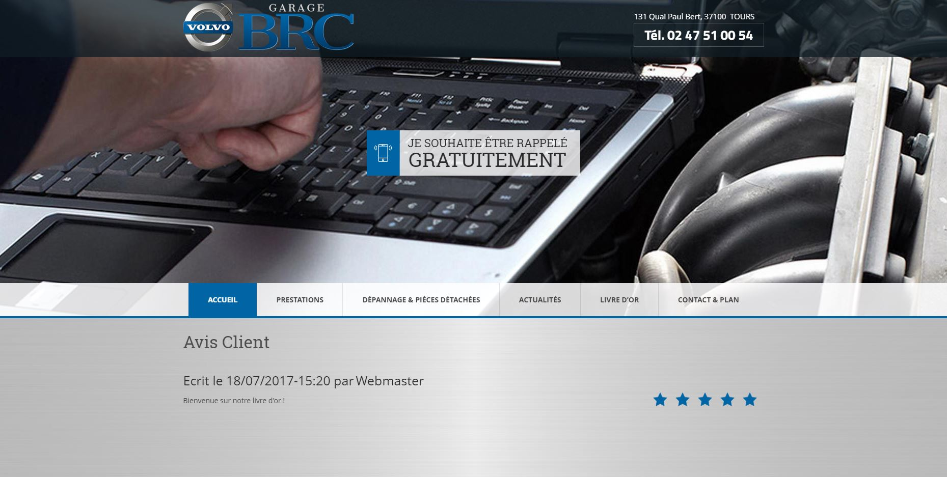Site web du Garage BRC